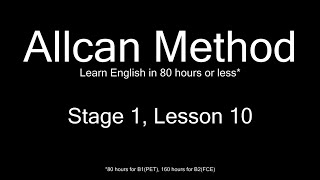 AllCan: Learn English in 80 hours or less - Stage 1, Lesson 10