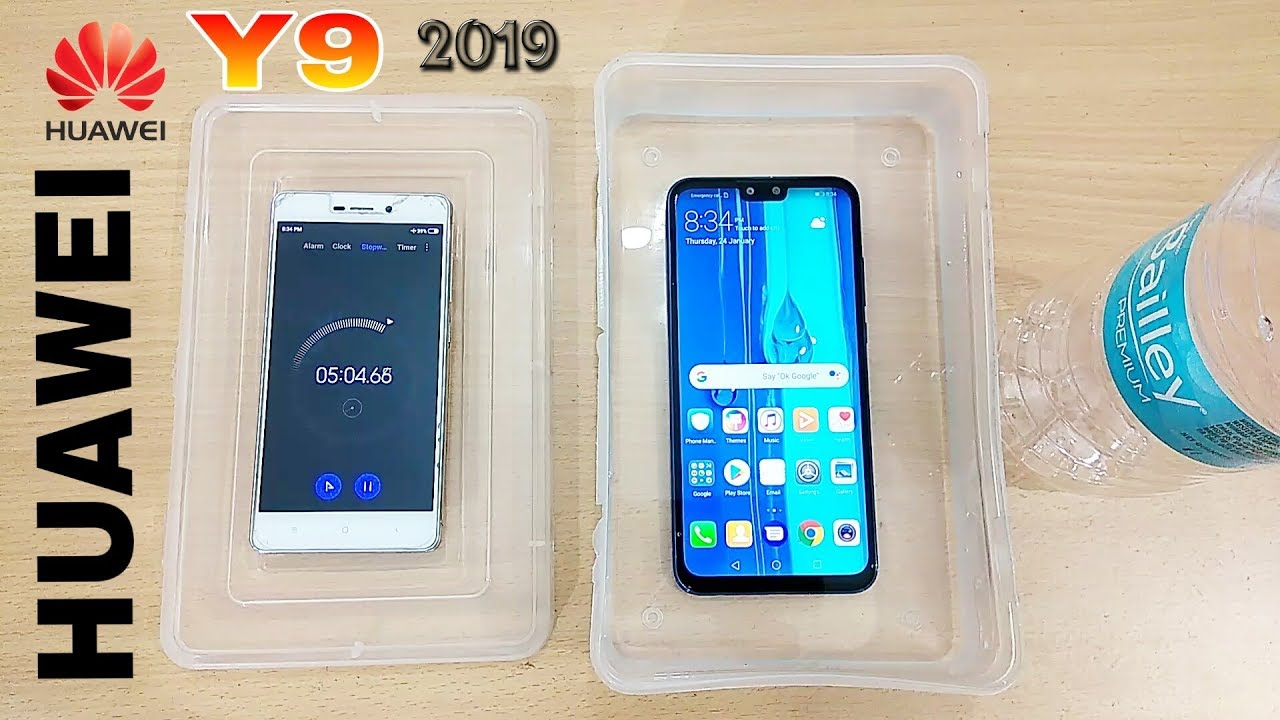 timeless design a5b23 cc02e Huawei Y9 2019 Water Test || BEND Test HUAWEI Y9 2019 || Durability Huawei  Y9 || Waterproof ????? 😵
