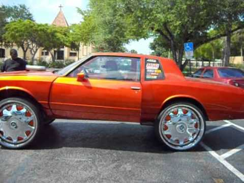 """Ss Monte Carlo >> Chevy Monte Carlo on 28"""" Dub Stashola Floaters at Arctic Customs - YouTube"""