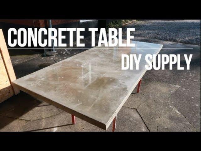 Diy Concrete Table Youtube