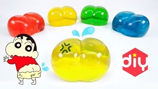 DIY Shin Chan PuriPuri Pudding Jelly ! Butt Pudding Popin Cookin   MonsterKids