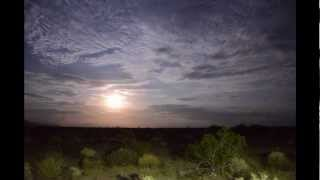 Desert Moonlight and Clouds Time Lapse