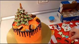 как Украсить Торт На Новый Год Шоколадные Подтеки