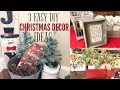 DIY CHRISTMAS DECORATIONS | RUSTIC/ FARMHOUSE CHRISTMAS  DECOR | DECORATE WITH ME