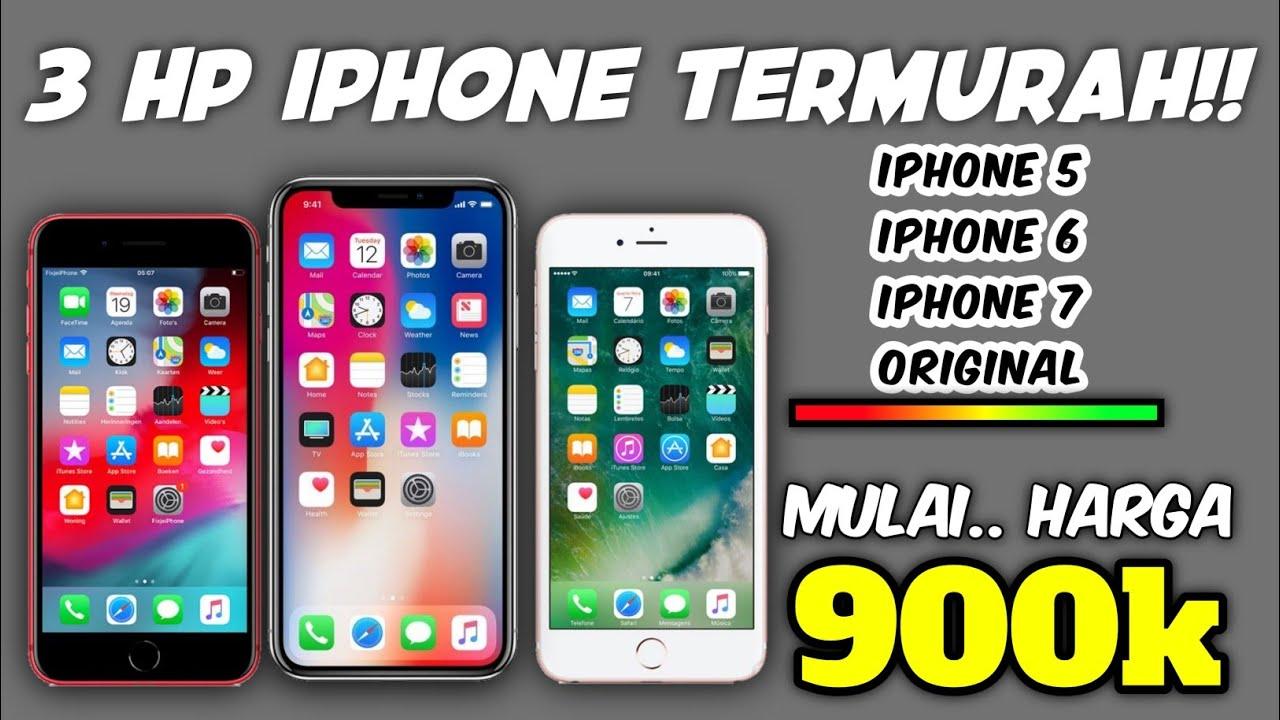 3 HP IPHONE BEKAS TERMURAH HARGA MULAI 900RIBUAN!! - YouTube
