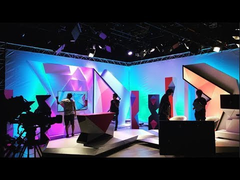 TV morning show studio set design with Lumos 500F, Lumos 700F LED lighting