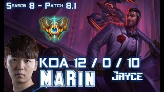 MaRin JAYCE vs CAMILLE Top - Patch 8.1 KR Ranked