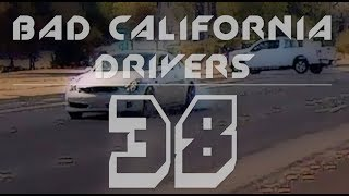 Bad Drivers Of California 38 | Multiple Close Calls!  Model 3 Spotted!  Christmas Madness!