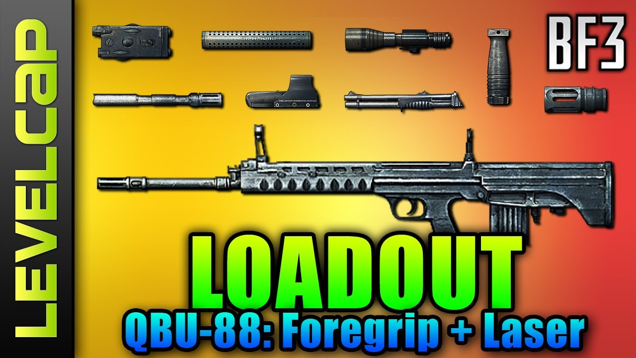Download Loadout - QBU-88, Foregrip, Laser Sight, Kobra (Battlefield 3 Gameplay/Commentary/Review)