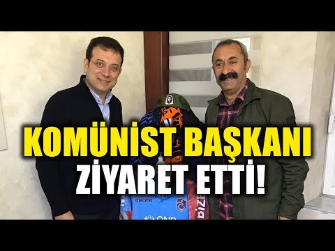 Ekrem İmamoğlu, Komünist Başkan Fatih Maçoğlu 'nu Ziyaret Etti!