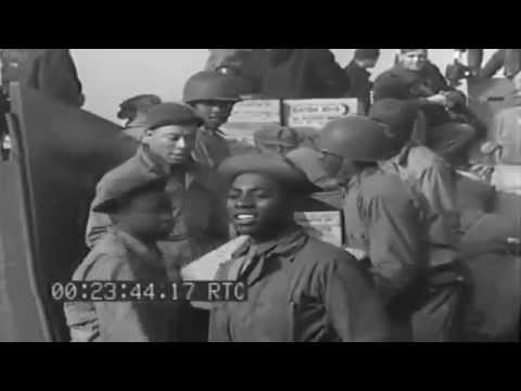 Seabees Assemble Rhino Pontoon, Load LCM, Plymouth, England, 03/24/1944 (full)