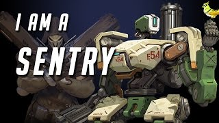 I AM A SENTRY! - Overwatch Beta Highlights #1