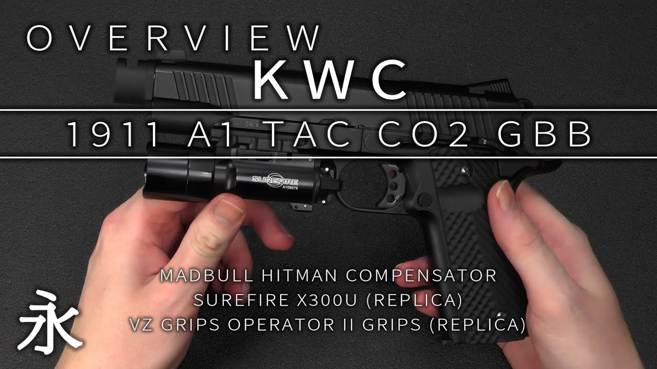 Overview: KWC 1911 A1 TAC CO2 GBB pistol (Customized)