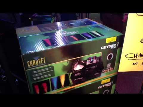 Chauvet expo 2013 at Metro Sound & Lighting Geyser fogger ...