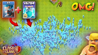 OMG 1 ice Wizard cloned 100 times !!!! | clash of clans | coc