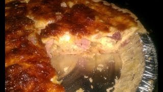 Quick And Easy Ham And Cheese Quiche!!
