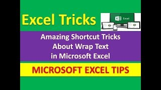 Amazing Shortcut Tricks About Wrap Text in Microsoft Excel : [Urdu / Hindi]