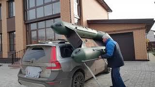 Подъём лодки на багажник авто
