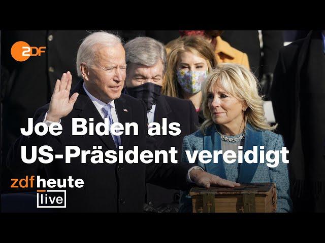 Amtseinführung von Joe Biden als US-Präsident | ZDFheute live