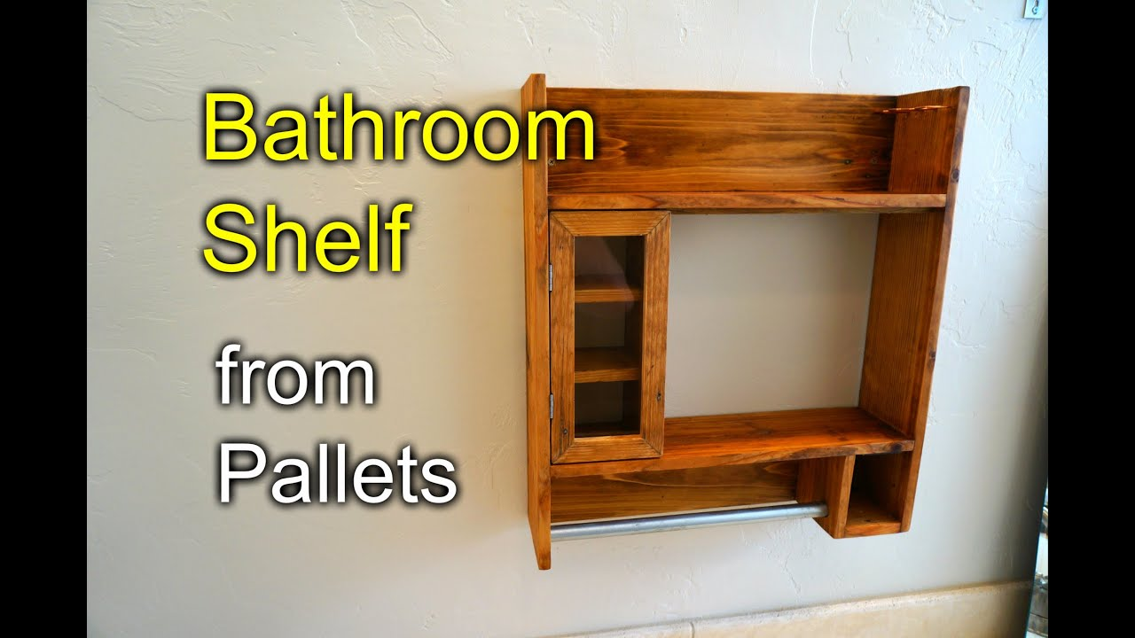 Bathroom Shaving Shelf From Pallet Wood How To Youtube