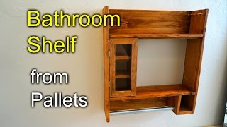 Bathroom Shaving Shelf From Pallet Wood