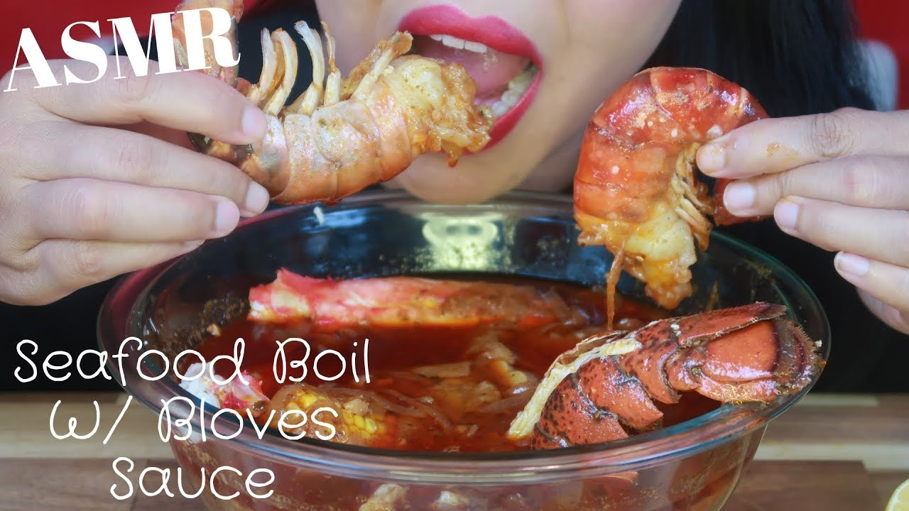 ASMR - Seafood Boil King Crab Legs, Giant Prawns, Lobster ...