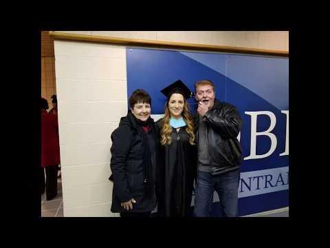Krista's graduation 2017 Masters Degree in Science