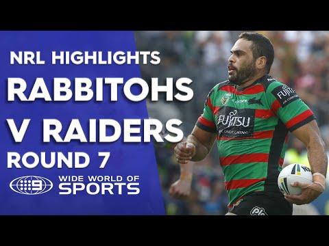 NRL Highlights: South Sydney Rabbitohs v Canberra Raiders - Round 7