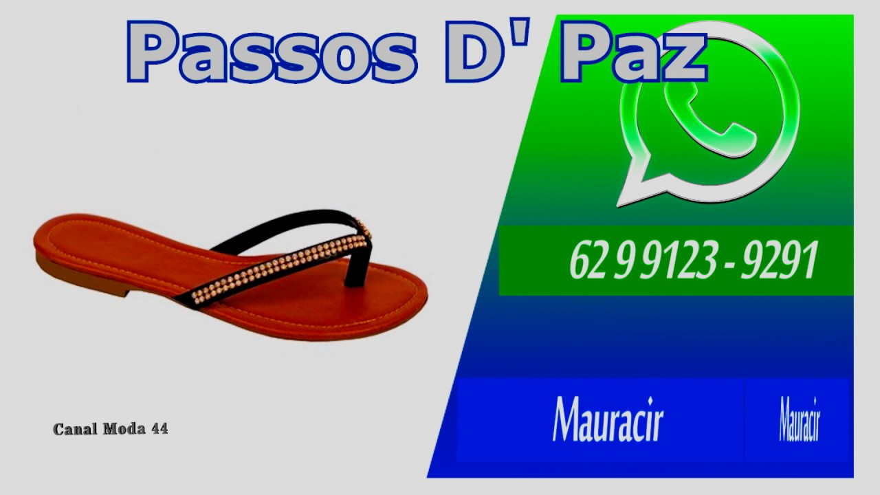 ac9c236b27 PASSOS DA PAZ MAURACIR LOJA 118 Atacado Rasteirinha Goiania - YouTube