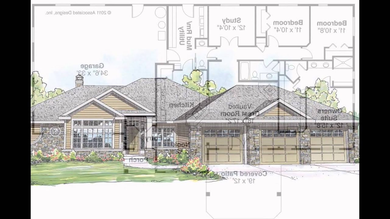 ranch style house plans - YouTube