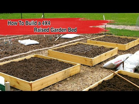 How To Build a 4X4 Raised Garden Bed - FOOD GARDENING