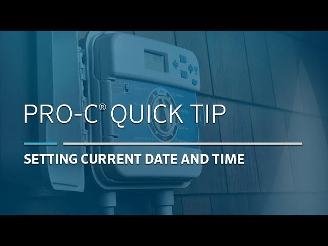 Pro-C Irrigation Controller Basic: 01, Setting Date and Time