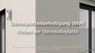 Dämmung (Steinwolle) kleben - Wärmedämmung- / WDVS- / Fassadendämmung-Verarbeitung