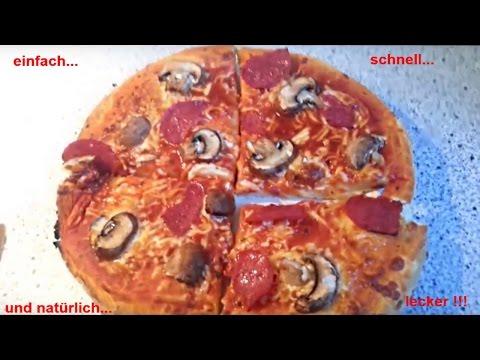 Bekannt Pizza / Pizzateig ohne Hefe - schnell , einfach , unkompliziert JD53