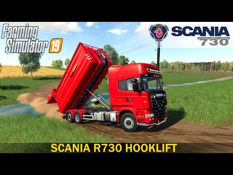Farming Simulator 19 - SCANIA R730 HOOKLIFT Building A Bridge
