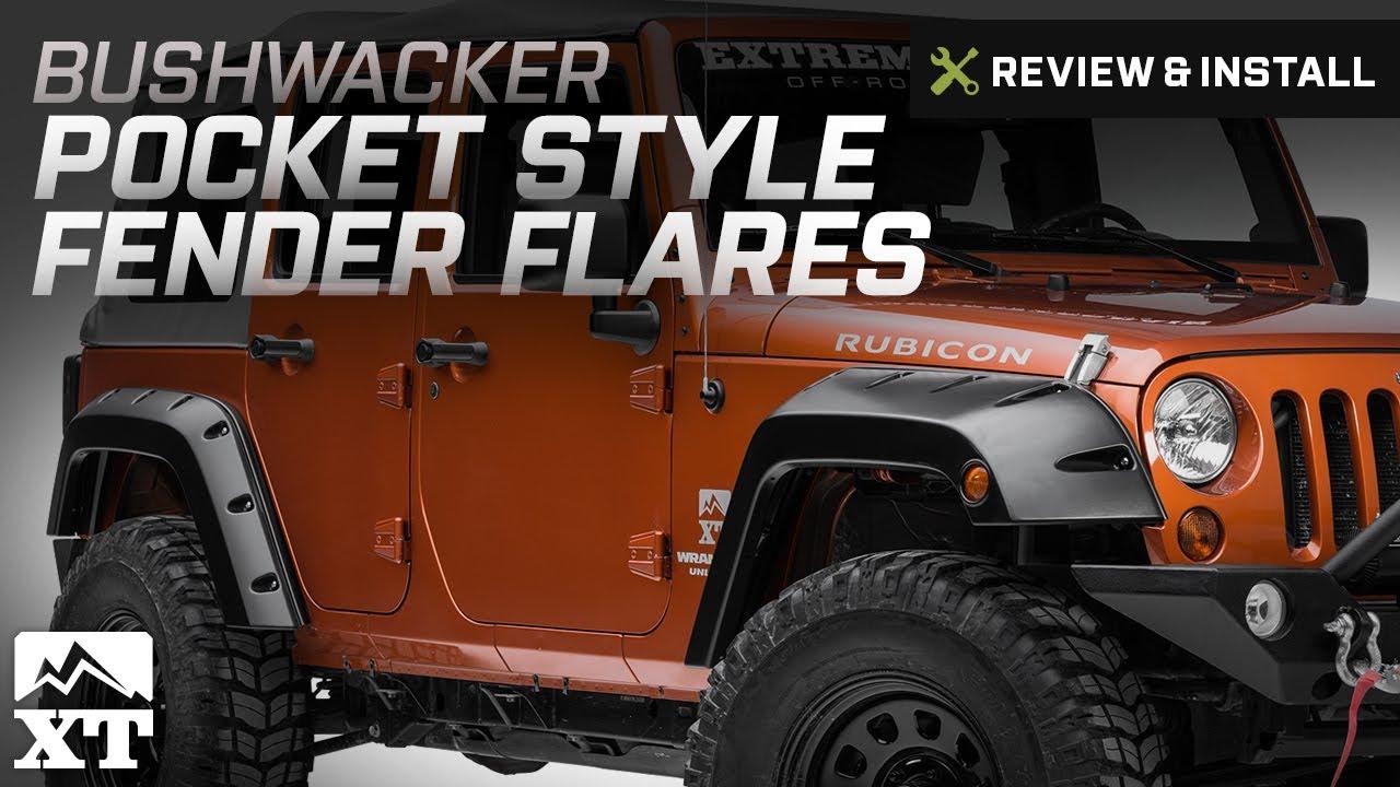 Jeep Wrangler Bushwacker Factory Width Pocket Style Fender Flares Installing J102596 J102597 J102598