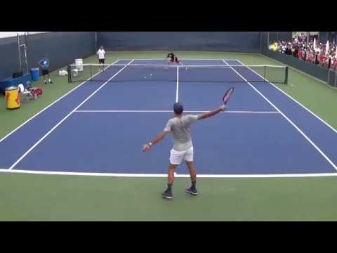 Roger Federer Cincinnati Practice BEST VIEW