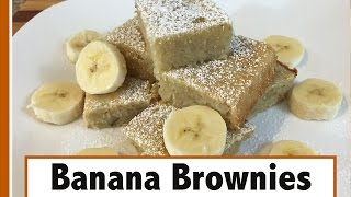 White Chocolate Banana Brownies