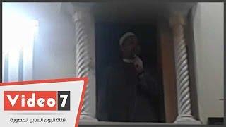 بالفديو.. إمام مسجد مصطفى محمود يخطب الجمعة من خارج الورقة