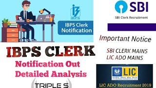 IBPS CLERK NOTIFICATION OUT Detailed Analysis || Bank Preference