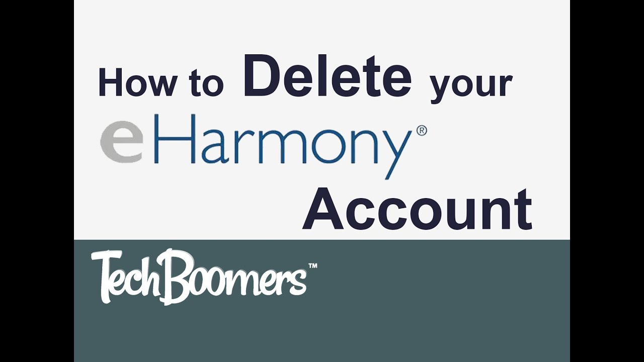 How to remove eharmony profile