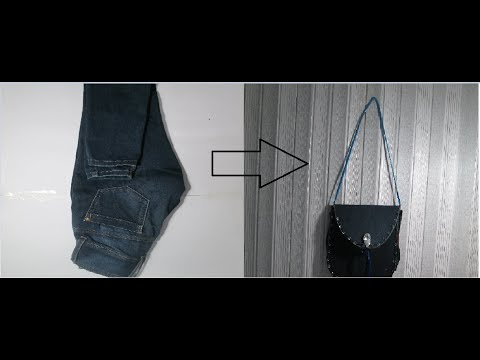 DIY: convert wasted jeans in to bag|| Reuse of old jeans new Idea no sew bag|| Isha's Art