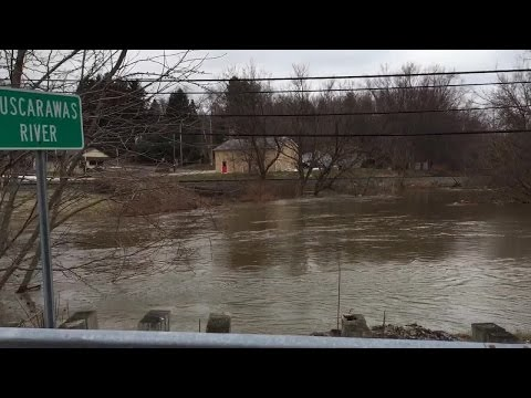 Tuscarawas River flooding in Clinton