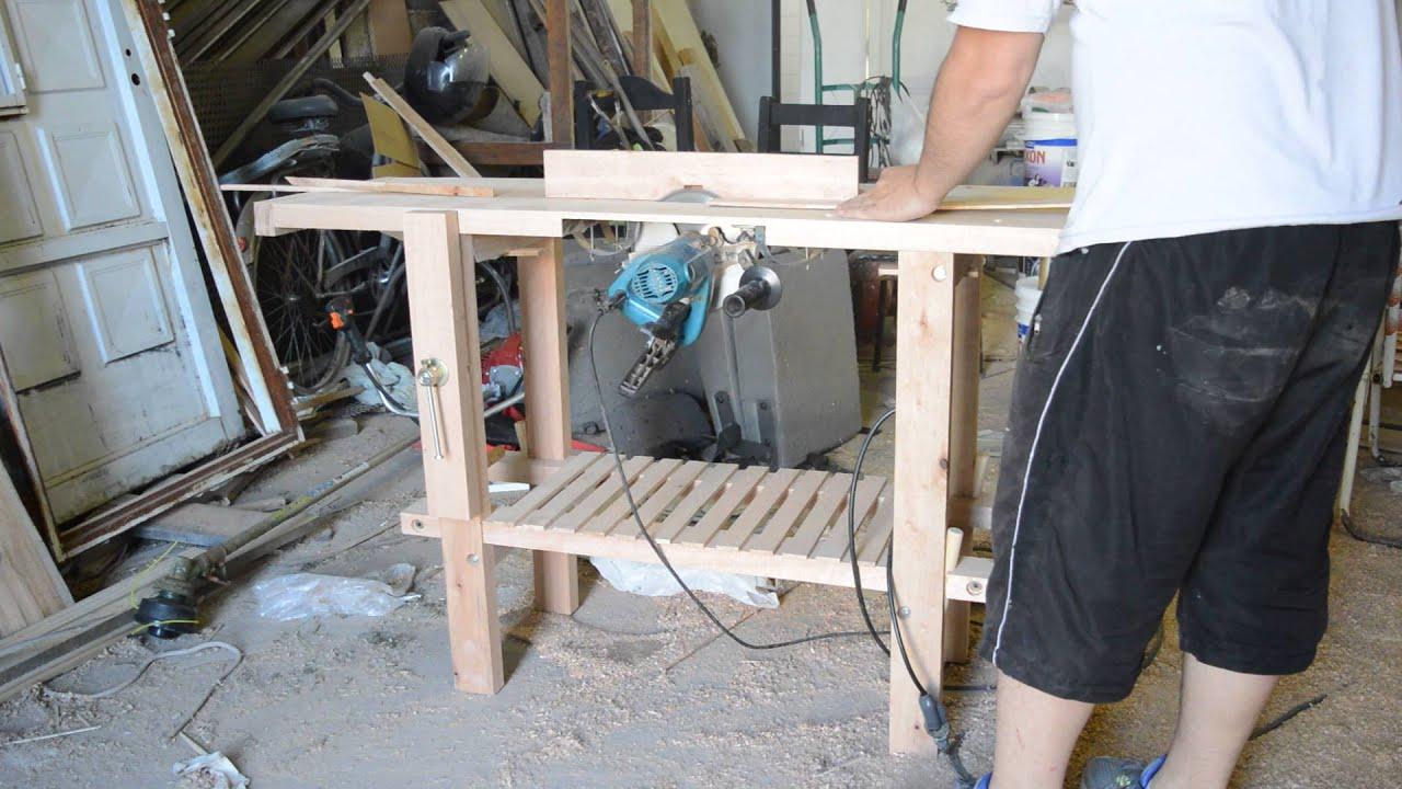 Banco de carpintero mesa de trabajo con sierra - Sierra de banco ...