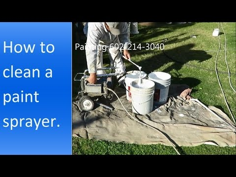 How to clean a paint sprayer.
