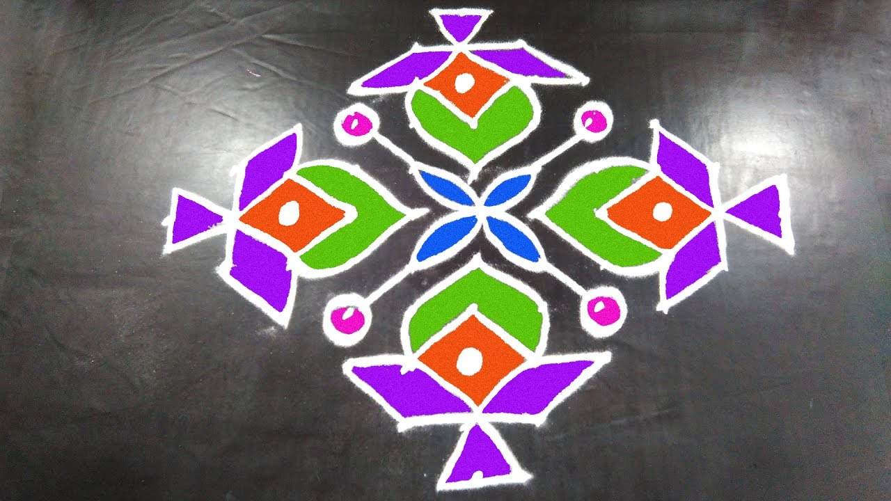 #236 - Easy Rangoli Designs With Kolam Design