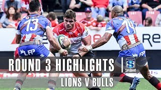 ROUND 3 HIGHLIGHTS: Lions v Bulls - 2019