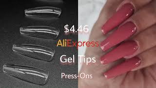 Aliexpress 50 tips fan-shaped nail art display