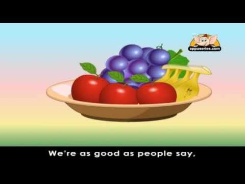 Rhymes for Learning English with Lyrics - Fruits
