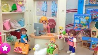 Los playmobil viven aquÍ compras para el bebÉ y nica hace travesuras en el centro comercial #46